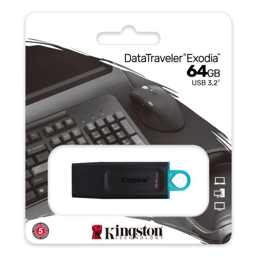 【DTX/64GB】 金士頓 64G 隨身碟 USB3.2 G1 TYPE-A 大尺寸扣環 保護蓋