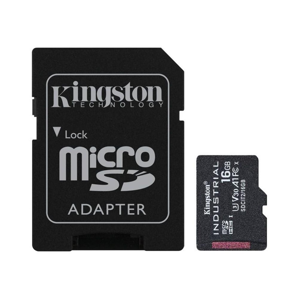 SDCIT2-16GB-【SDCIT2/16GB】 金士頓 16GB 工業用 Micro-SD 記憶卡 pSLC 模式 3年保固