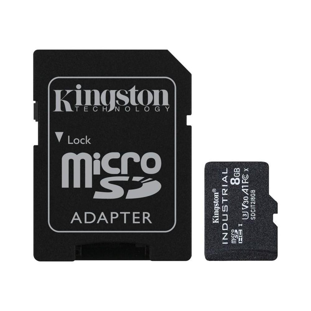 SDCIT2-8GB-【SDCIT2/8GB】 金士頓 8GB 工業用 Micro-SD 記憶卡 pSLC 模式 3年保固
