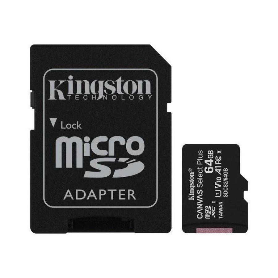 SDCS2-64GB-【SDCS2/64GB】 金士頓 記憶卡  64G Micro-SDXC A1 讀100MB/s 手機可用