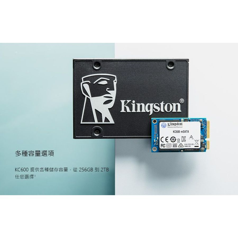 【SKC600MS/1024G】 金士頓 mSATA SSD 1TB 固態硬碟 5年保固