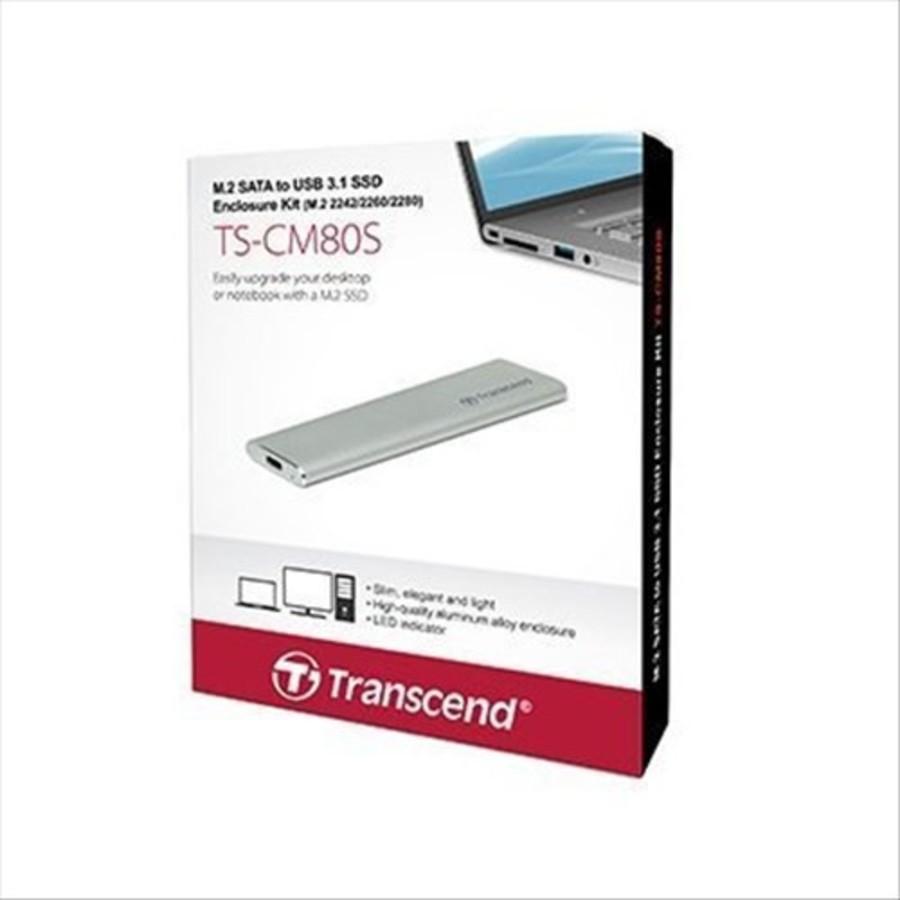 TS-CM80S-創見 固態硬碟外接盒 【TS-CM80S】 M.2 2242 2260 2280 SSD 套件
