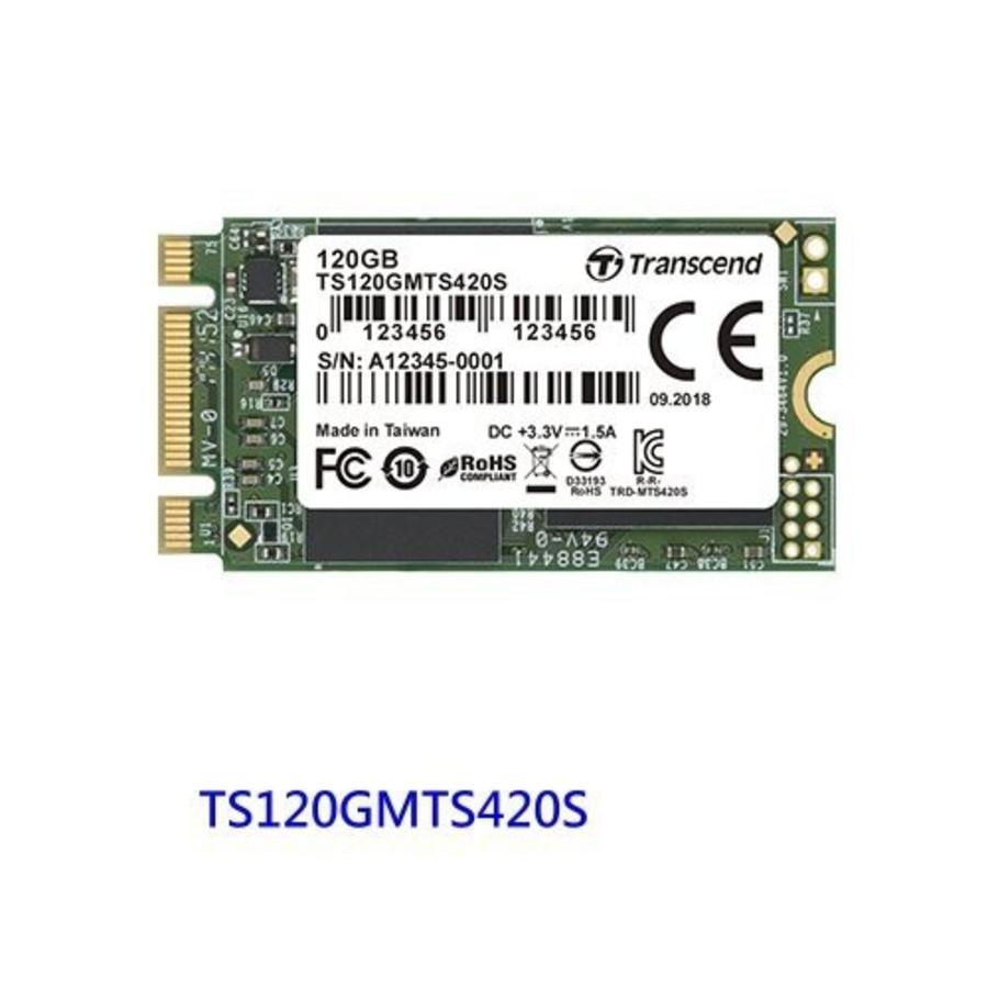 TS120GMTS420S-【TS120GMTS420S】 創見 M.2 固態硬碟 120GB SATA 3 2242 SSD 420S