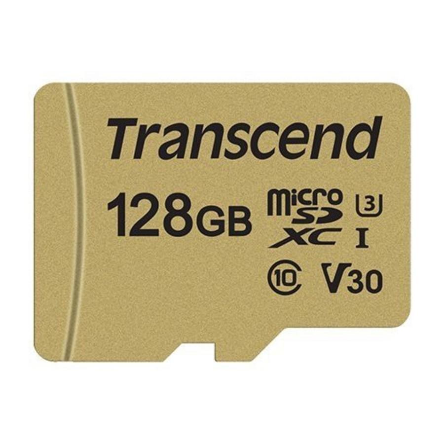 TS128GUSD500S-創見 記憶卡 【TS128GUSD500S】 128GB Micro-SD 讀95MB 寫60MB U3