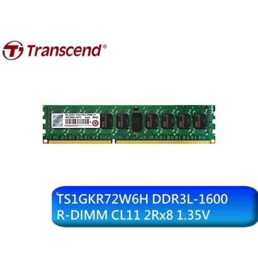 創見 伺服器記憶體 【TS1GKR72W6H】 8GB DDR3-1600 ECC REG 低電壓1.35V 封面照片