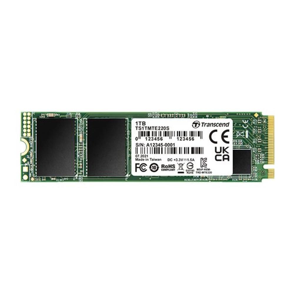 TS1TMTE220S-創見 固態硬碟 【TS1TMTE220S】 1TB PCIe M.2 SSD 220S NVMe支援