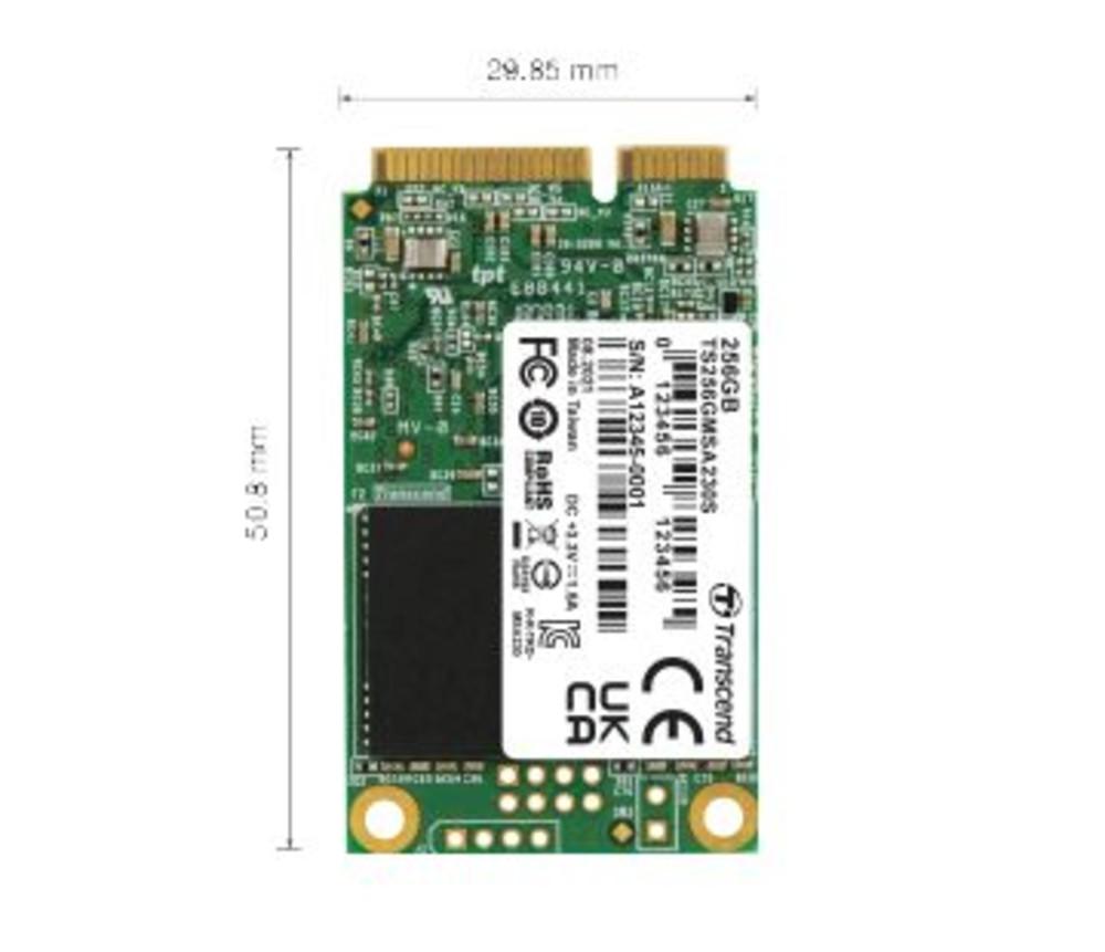 【TS256GMSA230S】 創見 固態硬碟 256GB mSATA SSD 支援 SATA III