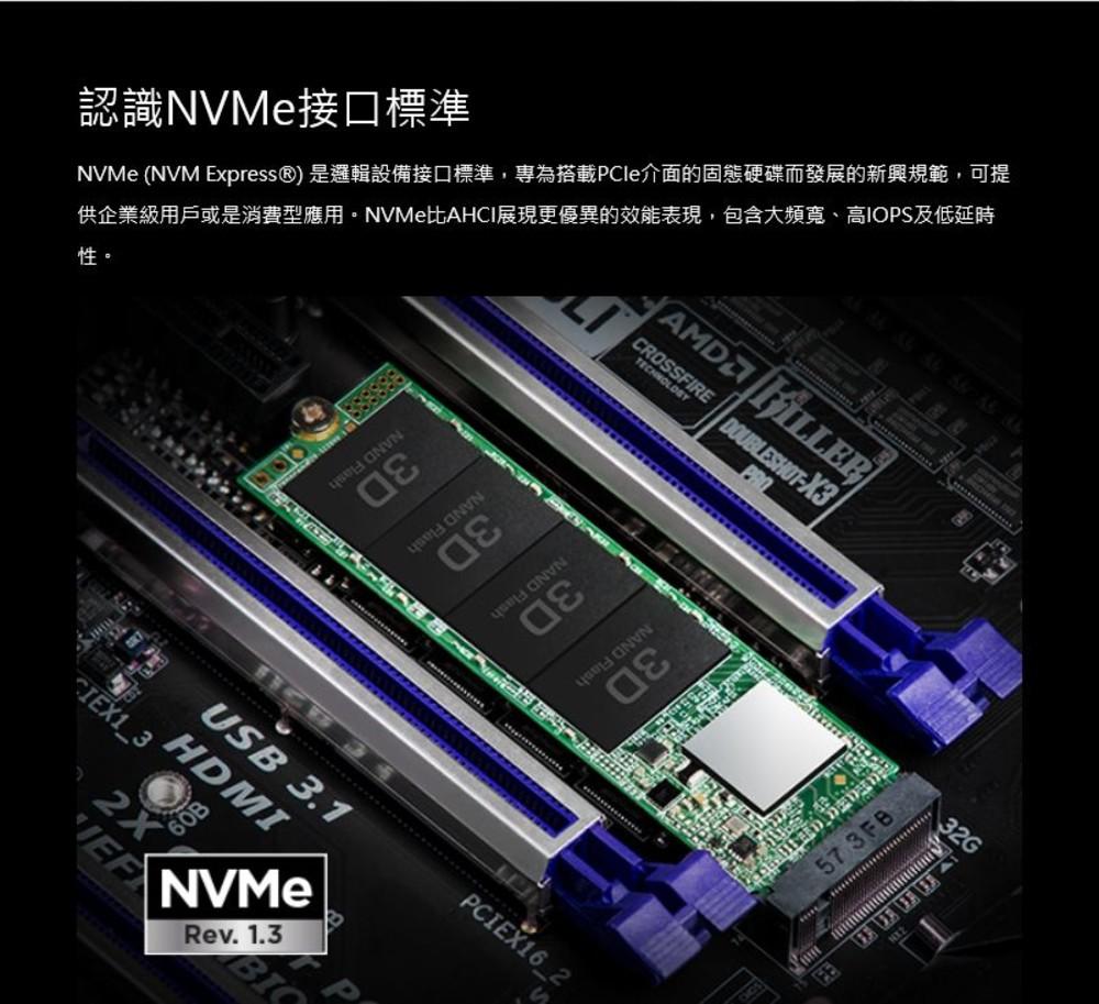 創見 固態硬碟 【TS256GMTE110S】 PCIe M.2 SSD 110S 256GB NVMe支援