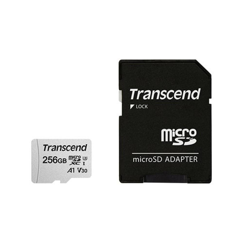 TS256GUSD300S-A-創見 手機用記憶卡 【TS256GUSD300S-A】 300S 256GB Micro-SD U3 A1