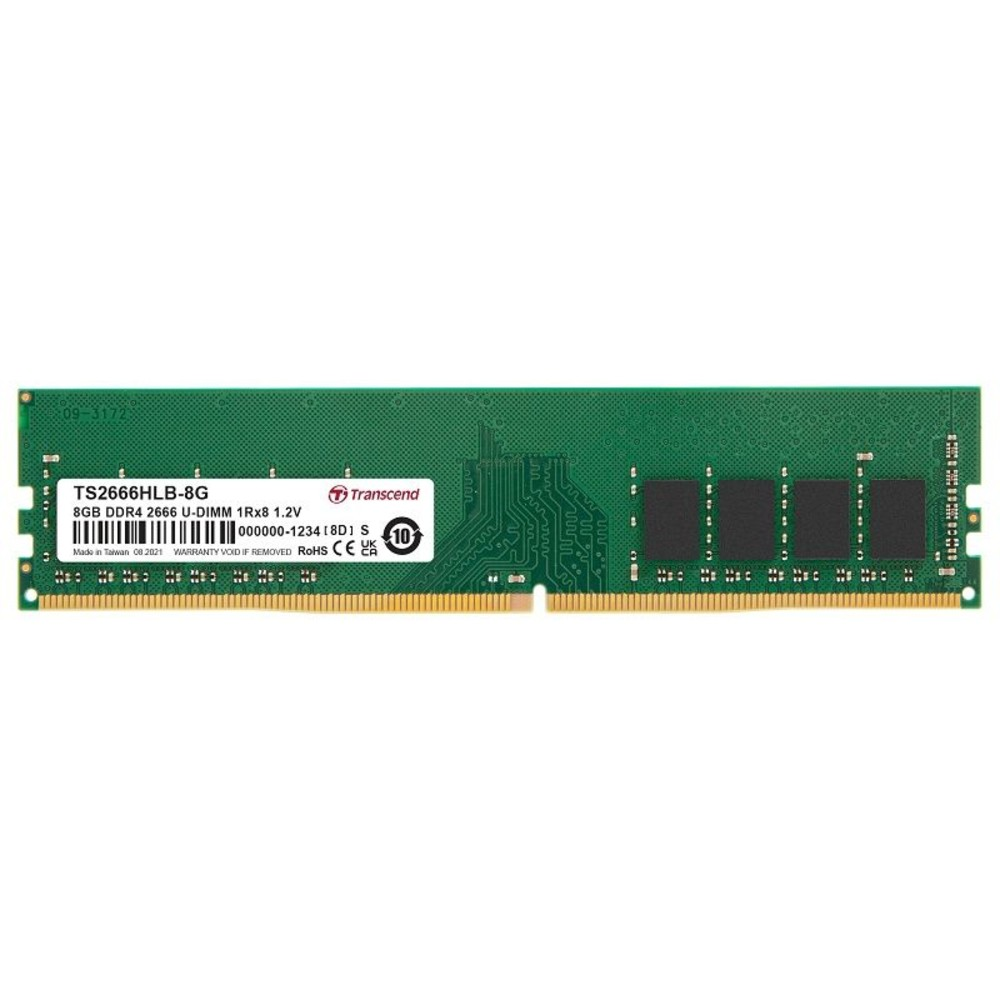 TS2666HLB-8G-【TS2666HLB-8G】 創見 桌上型記憶體 DDR4-2666 8GB 終身保固 1.2V 低耗電
