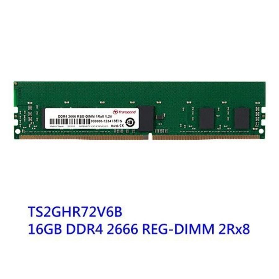創見 伺服器用記憶體 【TS2GHR72V6B】 工作站 用 REG DDR4-2666 16GB 封面照片