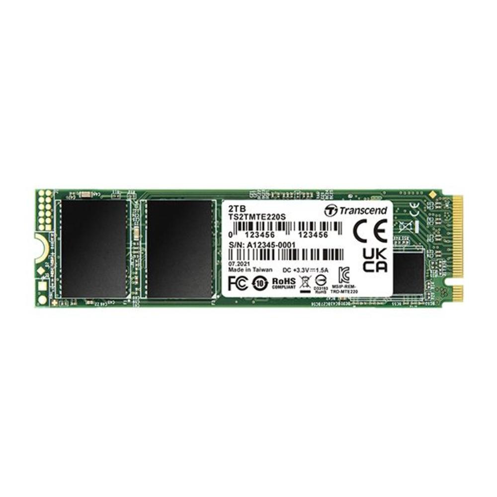 TS2TMTE220S-創見 固態硬碟 【TS2TMTE220S】 2TB PCIe M.2 SSD 220S NVMe支援