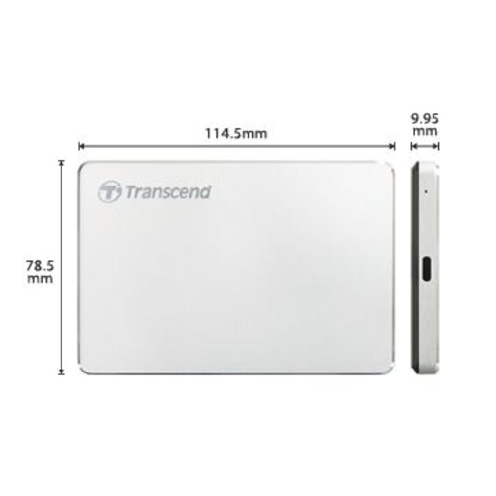 創見 外接式行動硬碟 【TS2TSJ25C3S】 2TB 25C3S 支援 USB 3.1 AC 鋁殼設計 新風尚潮流