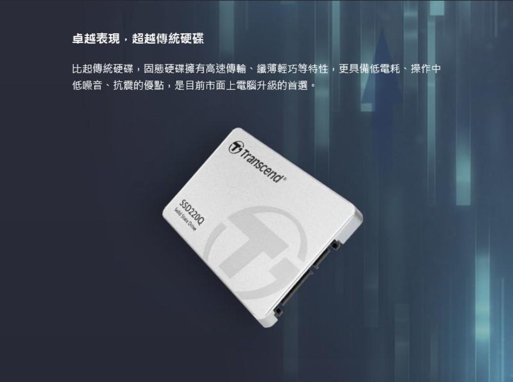 創見 固態硬碟 【TS2TSSD220Q】 SSD 220Q 2TB SATA III 讀550MB 寫500MB