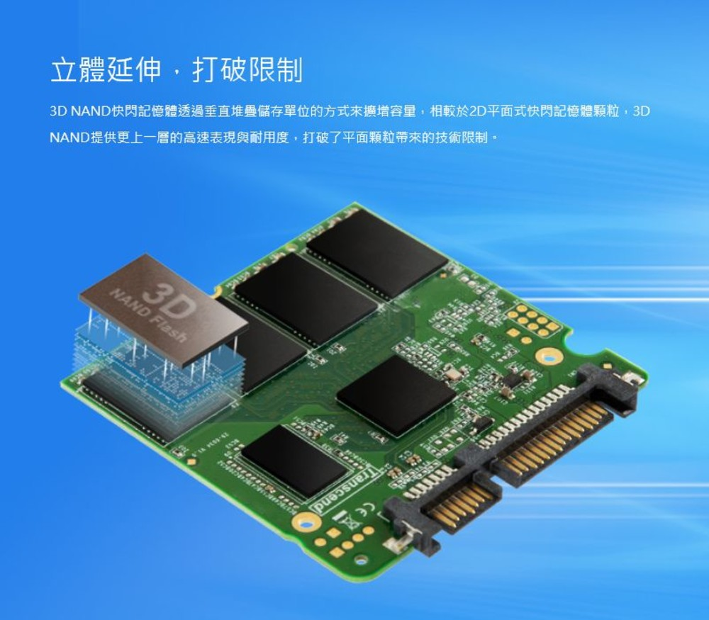 創見 固態硬碟 【TS2TSSD230S】 SSD 230S系列 2TB SATA III 6.8mm