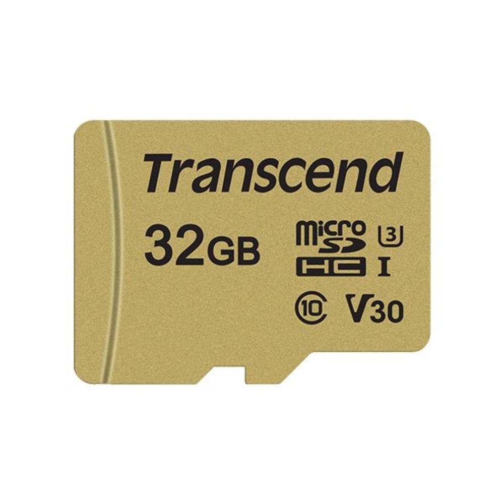 創見 記憶卡 【TS32GUSD500S】 32GB Micro-SD 讀95MB 寫60MB 支援 U3 封面照片