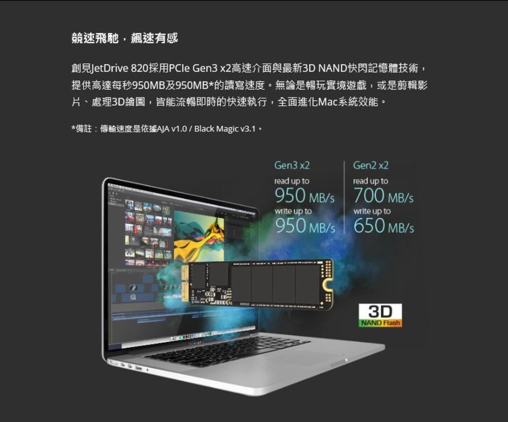 【TS480GJDM820】 創見 SSD 固態硬碟 480GB 更換 APPLE 固態硬碟 專屬套件組