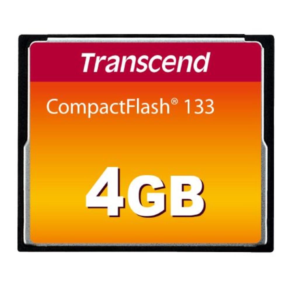 創見 記憶卡 【TS4GCF133】 4GB CF 133X 封面照片