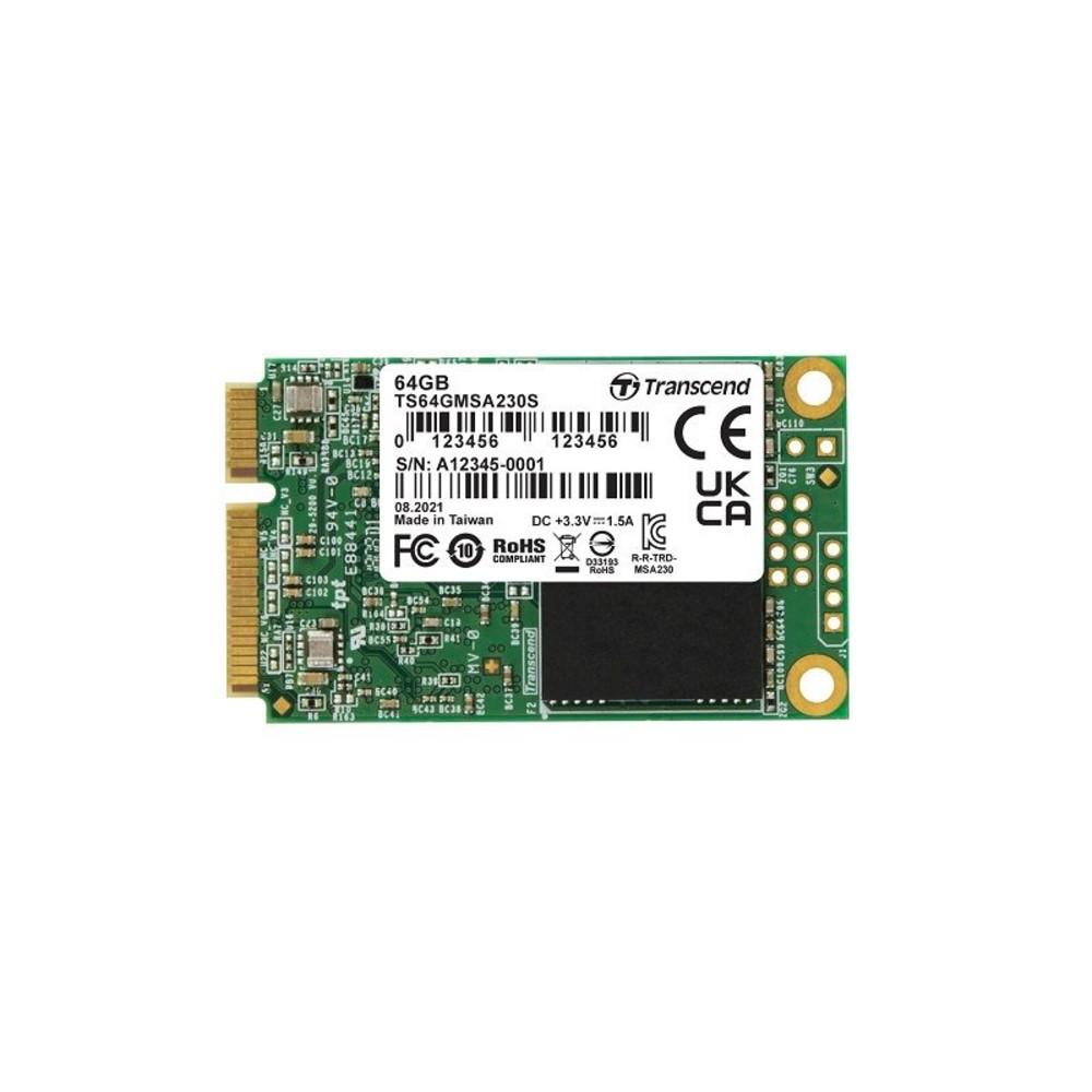 TS64GMSA230S - 創見 固態硬碟 【TS64GMSA230S】 64GB mSATA SSD 支援 SATA III