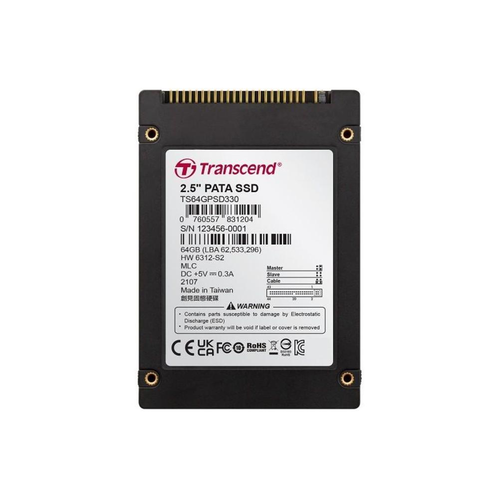TS64GPSD330-創見 固態硬碟 【TS64GPSD330】 SSD 64G 2.5吋IDE介面