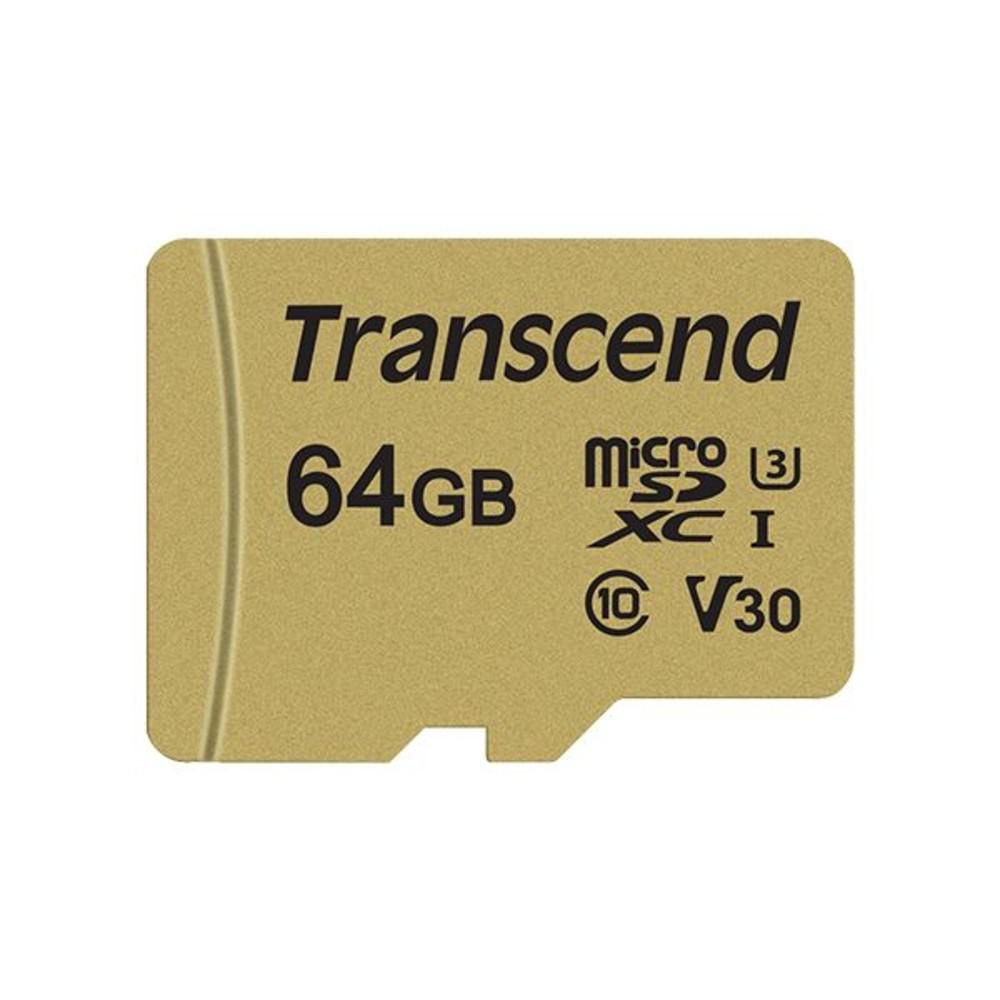TS64GUSD500S-創見 記憶卡 【TS64GUSD500S】 64GB Micro-SD 讀95MB 寫60MB 支援 U3