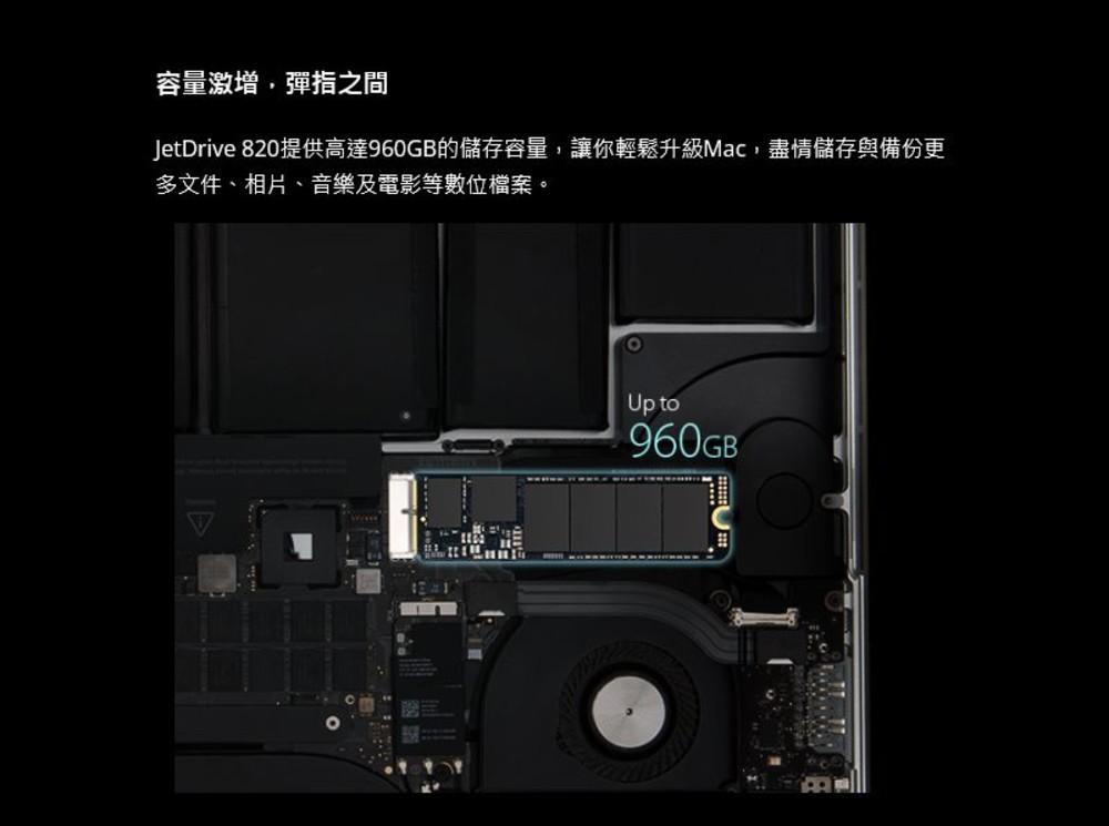 【TS960GJDM825】 創見 SSD 固態硬碟 960GB 更換 APPLE 固態硬碟 專屬套件組