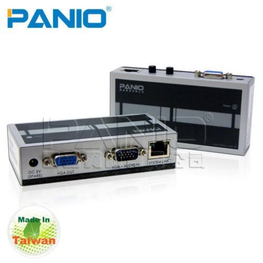 PANIO VGA影像延長器 【VE170】 透過Cat.5網路線延長170m
